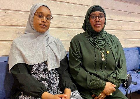 I RETTEN: Ridwan Mussa og hennes mor Fadumo Bulhan forklarte seg begge i retten tirsdag. De beskriver at hendelsene med den tiltalte familien har påvirket dem i stor grad, til tross for at de flyttet fra Elverum i fjor sommer.