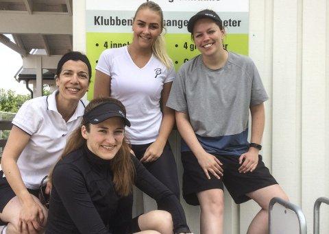 Disse jentene fra Porsgrunn Tennisklubb sørget for seier mot Arendal. Fra venstre: Lisa Quagliata, Live Westli, Victoria Rummelhoff, Synnøve Nicolaisen. Ikke tilstede: Guro Helgesen og Medleen Werner.