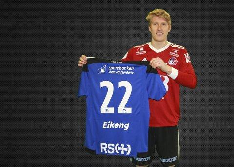 Ny klubb: Erik Eikeng gleder seg til å debutere for Florø i 1. divisjon. Først må han bare bli kvitt en skade som har holdt han på sidelinja de siste ukene. Foto: Florø Fotball