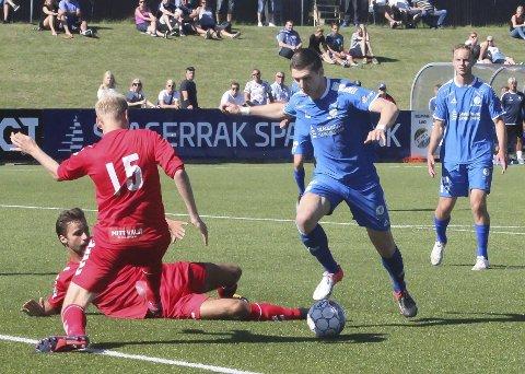 Shala på topp: Granit Shala er Tommy Svindal Larsen sin foretrukne mann på topp i borteoppgjøret mot FK Tønsberg.