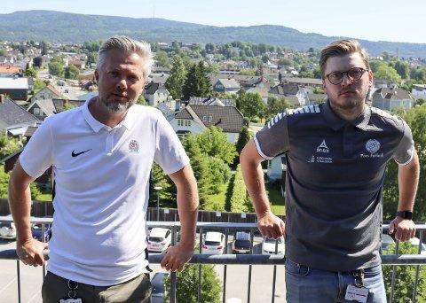 Frykter nye utsettelser: Gaute Brovold (NFF Telemark) og Stig Haddal (Pors) frykter at seriespillet blir utsatt ytterligere.