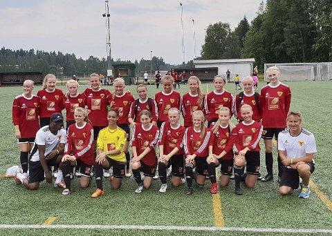 Finaleseier: Bossmo & Ytterens J17-lag slo Umeå i B-finalen søndag. Foto: Espen André Hagen