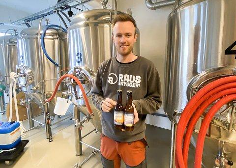 Kristian Sivertsen i RAUS Bryggeri er glad for å være på plass i nye lokaler.