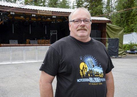 Festivalsjef Knut Storvik gleder seg til festivalområdet fylles med 200 heldige feststemte folk under Svartisenfestivalen neste helg.
