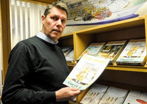 SELGER NÅR DET SNØR: John Magne Trulsen hos reisebyrået Bennett ferie Hønefoss venter flere henvendelser når været er dårlig.