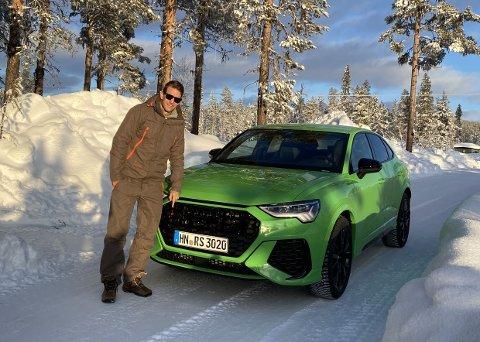 VINTERBIL: Brooms Vegard Møller Johnsen har reist til Sverige for å teste nye Audi RS Q3