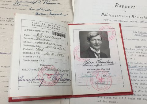 NS-ORDFØRER: Halvor Haavelmo var Skedsmo-ordfører fra februar 1941 og fram til den tyske kapitulasjonen i mai 1945. Romerikes Blad har gått gjennom Haavelmos sak i Riksarkivet.