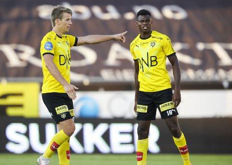 FRUSTRERT: Thomas Lehne Olsen (t.v.) er klar på at LSK-spillerne nå må ta ansvar for å snu trenden. Her sammen med Ebiye Moses. BEGGE FOTO: NTB scanpix