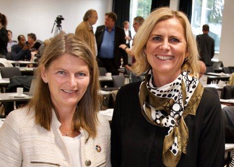 TILBAKE TIL NORMALT: Både ordfører i Asker Lene conradi (t.v.) og varaordfører Monica Vee Bratlie deler et stort håp for 2021 - at koronaen overvinnes og verden kan gå tilbake til normalen.