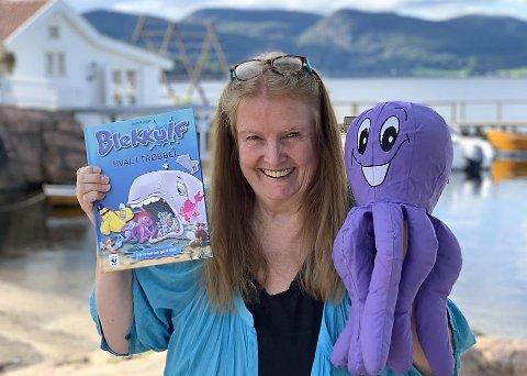 BLEKKULFMAMMA: Bente Roestad lanserte Blekkulf i 1989. i august var hun tilbake med sin 19. bok om miljødetektiven som på begynnelsen av 1990-tallet var alle barns favoritt.