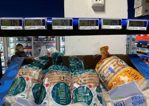 Polarbrød-posene som selges i Norge er dyrere og mindre enn de du får i Sverige.