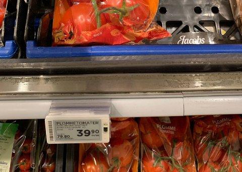 Prisen på grønnsaker varierer voldsomt, men være opp mot dobbelt så høy i Norge.