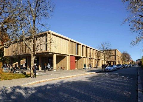 VINNEREN: Forslaget «Tripp trapp» ble plukket ut som vinneren av plan- og designkonkurransen til nye St. Olav videregående skole.