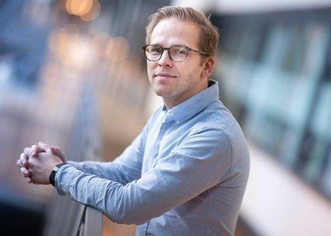 Pressevakt David Fidjeland i Telenor Norge. Foto: Martin Phillip Fjellanger