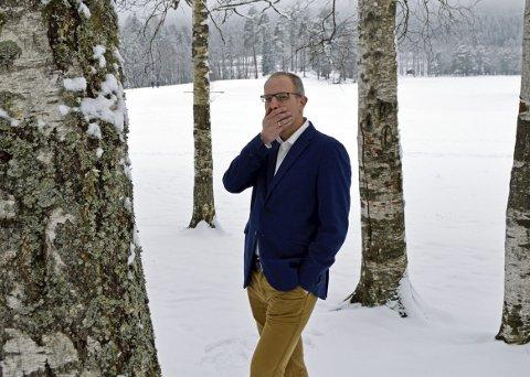 Gleder seg: Fredrik Larsen ser fram til å begynne i Aftenposten igjen.     Foto: Helen Daae Frøyseth.