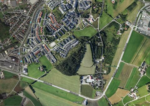 Grøntområdet som ligger mellom Skadberg og Forusbeen skal bli et nytt stort boligfelt.
