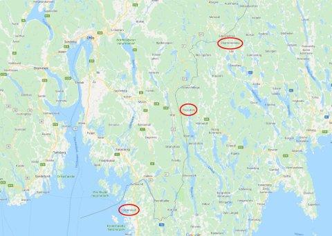 De tre mest populære grensehandeldestinasjonene er Charlottenberg, Töcksfors og Svinesund/Strömstad.