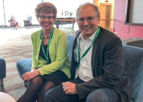 GJORT JOBBEN: Vi har gjort jobben. Nei til depoi i Brevik er forankret i partildelsen, sier Kathrine Kleveland og Terje Riis-Johansen.