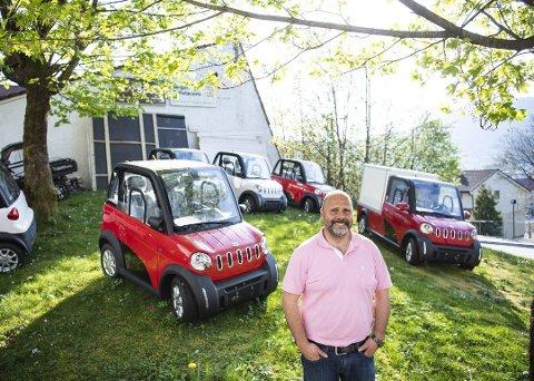 George Yaghman er daglig leder for RX Sport på Landås. Han har importert elektriske MC-biler til Bergen. ALLE FOTO: EMIL W. BREISTEIN