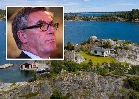 Stein Erik Hagen har solgt ferieparadiset på Ropen til sønnen, Carl Erik Hagen.