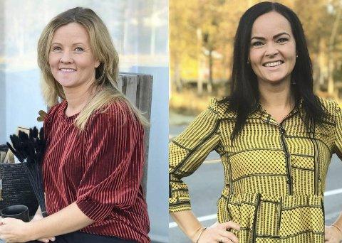 Butikkdamer og modeller: Magnhild Dalen og Elisabeth Lindtveit det nyeste tilskuddet hos Myra Manufaktur. De blir å finne både bak disken og foran kameraet i den sjarmerende butikken.