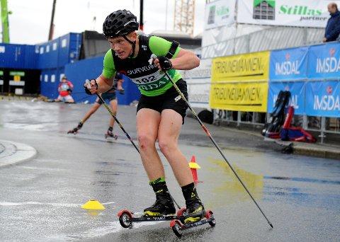 Seier: Vegard Thon var tilbake etter fallet i sprintfinalen i Blink-festivalen i Sandnes, der dette bildet er tatt, og vant sammenlagt i helgas Tour de Synnfjell.