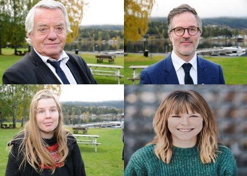 Fritak: Olaf Nils Diserud (øverst t.v.), Knut Aastad Bråten, Cecilie Sørli og Ingrid Elise Klosbøle Kolstad har alle søkt fritak fra politiske verv etter valget.