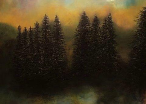 HENGER PÅ UTHEIM: Mona Langelands kunst kan ses på Utheim fram til og med torsdag.