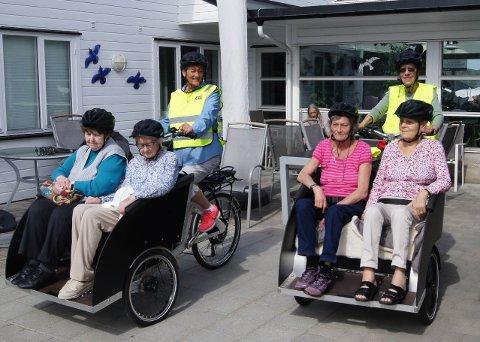 SYKKELVERT: Son Eldresenter søker frivillige sykkelverter til å ta med eldre på tur.