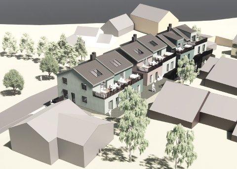 Slik kan det bli: Illustrasjonen viser hvordan de planlagte leilighetene i Kølkjørarveien blir seende ut.