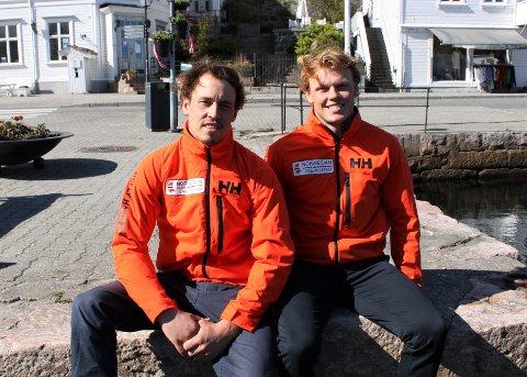 FIKK STIPEND: Mads (t.v.) og Tomas Mathisen fikk 40.000 kroner av Agder fylkeskommune.