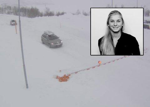 Vakthavende meteorolog hos Storm Geo, Lillian Bergheim.