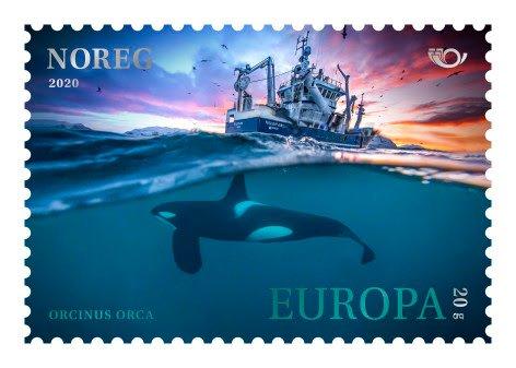 Slik ser det nye frimerket ut.