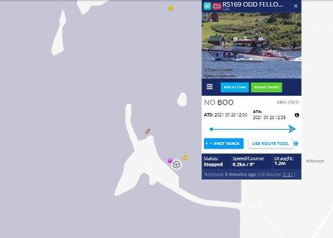 Foto: Skjermdump/Marine Traffic
