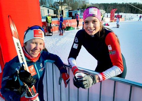 Helene Fossesholm fra Eiker Skiklubb gjorde det skarpt i junior-NM. Kristine Stavås Skistad fikk det tyngre.