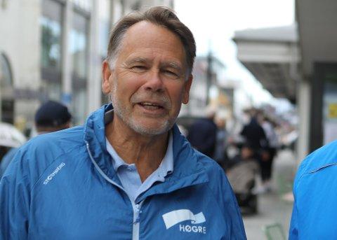 HALEHENG: Bjørn Hollevik i Høgre er uroa for at eit raudgrønt fleirtal til hausten vil bli avhengig av SV og MDG. I fylkesutvalet tysdag meiner han vi fekk eit skremmeskot på nettopp det.