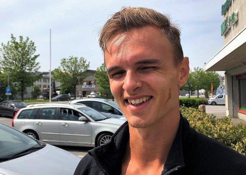KLAR: Øyvind Strømmen Kjerpeset er klar til å sikre seg 400 meter kretsrekorden frå 1973.
