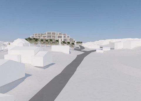 FIKK GRØNT LYS:  Pettersand Panorama, som består av 45 boliger i bygninger på mellom to og fire etasjer, har fått grønt lys av bystyret. Utbygger håper å kunne starte byggingen til sommeren, dersom alt går på skinner.