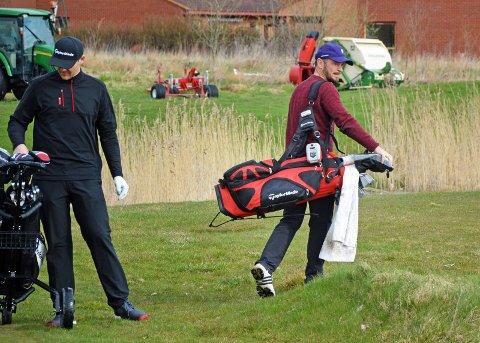 NY TEST: Henrik Bjørnstad gjør seg klar for en ny runde på Gamle Fredrikstad Golfklubb. Foto: Vidar Henriksen