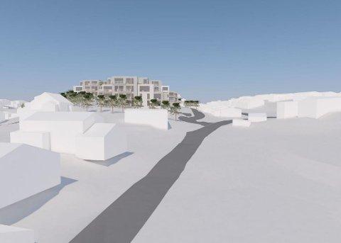 45 BOLIGER: Pettersand Panorama består nå av 45 boliger i bygninger på mellom to og fire etasjer.  Illustrasjon: SG Arkitekter