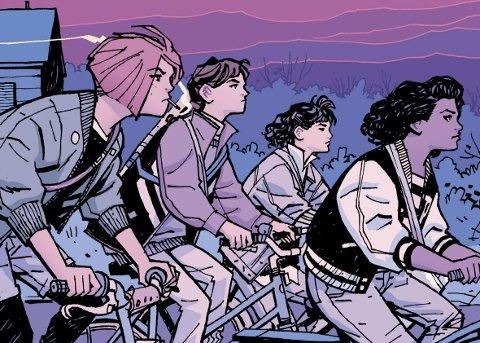 Med «Paper Girls» viser Brian K. Vaughan nok en gang hvorfor han er en av det beste tegneserieskaperne i vår generasjon. Bildet er hentet fra «Paper Girls».