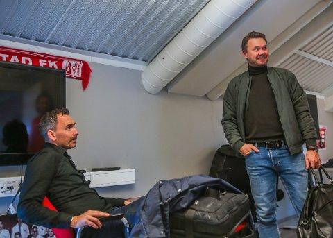 Joakim Klæboe og Bjørn Johansen var klare for jobb mandag morgen. - Vi ønsker å avslutte sesongen på best mulig måte, vi, sier duoen.