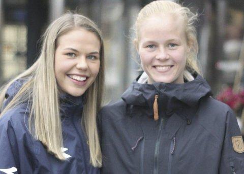 SEIER: Vilde Fjelldal, til venstre, og Katrine Winnem Jørgensen, tok seier lørdag ettermiddag. Arkivfoto