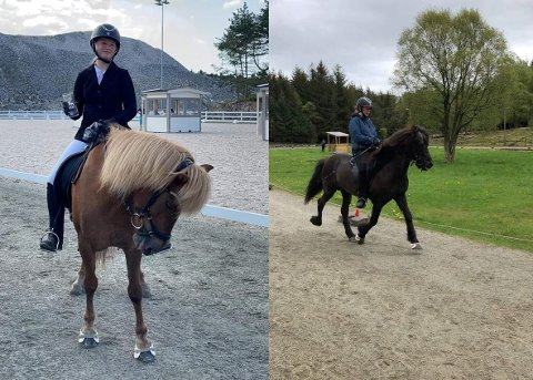 Sara har ridd på rideskole i to år nå, og hun ønsker å konkurrere så mye som mulig fremover.