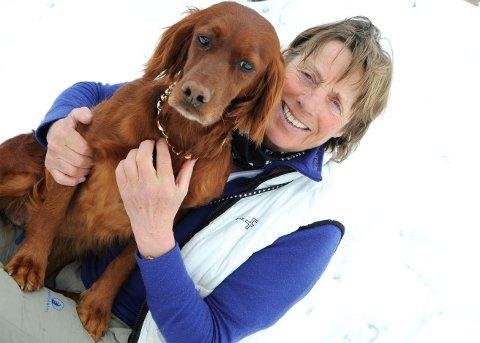 PÅ INNTEKSTTOPPEN: Elin Wittusen bodde 18 år med sine hunder på Dovrefjell.