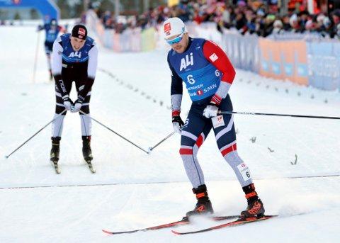 LIllehammer-løperen Håvard Solås Taugbøl endte på 16. plass på sprinten i Lathi, så da blir det ikke noen plass på sprintlaget i VM.