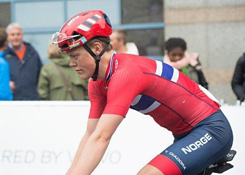 I TET: Anders Skaarseth ble fredag ny sammenlagtleder i sykkelrittet Cro Race i Kroatia