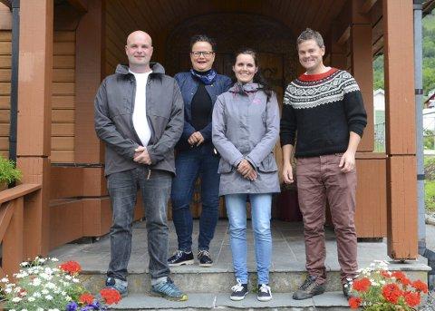 Arrangørane: Frå venstre: Jon Korff Lofthus, Marita Aarhus, Tone Ekkje og Harald Alvavoll.