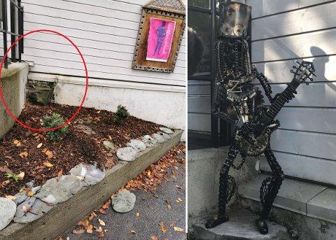 HÆRVERK: Heller er knust og statuen Slash er søkk borte.