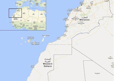 VEST-SAHARA: På Afrikas vestkyst.ill.googlemaps